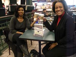 Sandra Briggs and me at Braintree Barnes and Noble