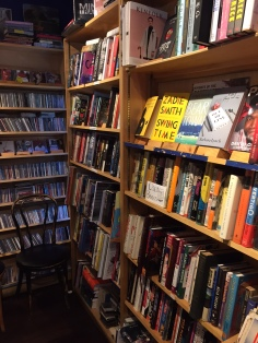 Shelves of Books and CDs